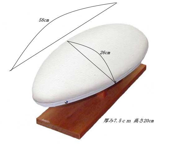 ラバン馬(卵型馬)17号(58x26cm)Pressing Board #17テーラーの必需品あらゆる箇所の仕上作業に最適