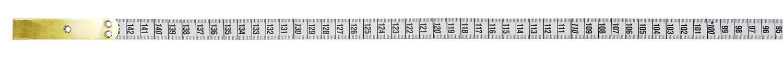 ヘキストマスhoechstmassブラスエンドメジャー150cmcm/cm※片面0cm部分の裏面は150cmとなります。