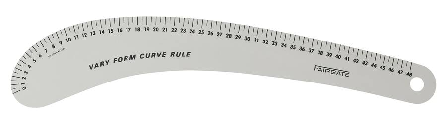 アメリカ製 カーブ尺VARY FORM CURVE RULE48cm(センチ表示)