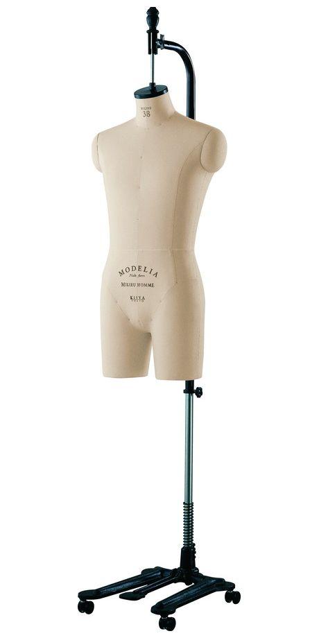 《キイヤ》 メンズ用ダミー MODELIA MH-MLN-C モデリア ヌードフォーム ミリュ38 オム クロッチドボディ(MILIEU 38 Homme Crotched)【※代引き不可】