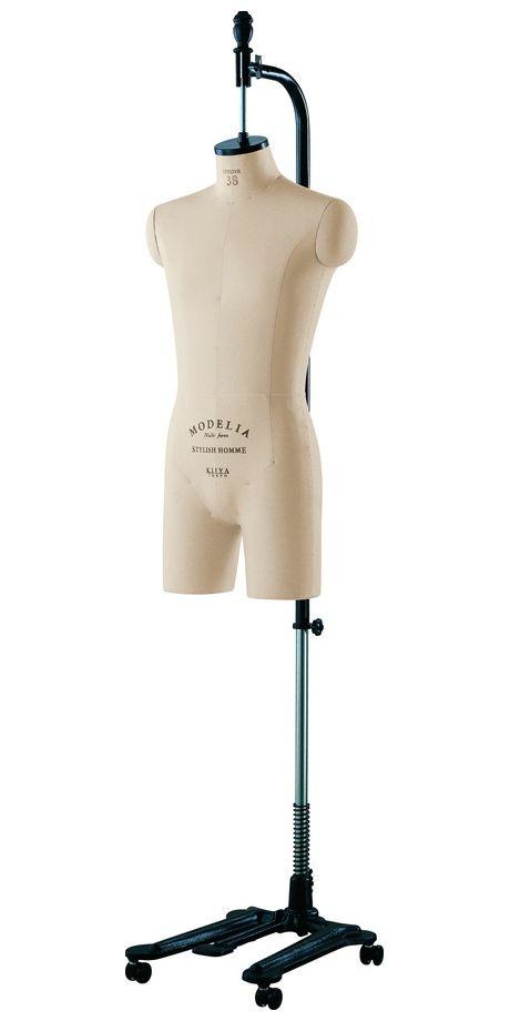 《キイヤ》 メンズ用ダミー MODELIA MH-STN-C モデリア ヌードフォーム スタイリッシュ38 オム クロッチドボディ【※代引き不可】(STYLISH 38 Homme Crotched)
