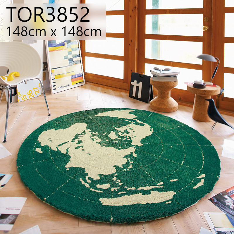 東リ 【TOR3852】 148cmx148cm 円形 ラグ 防ダニ ホットカーペットOK マット