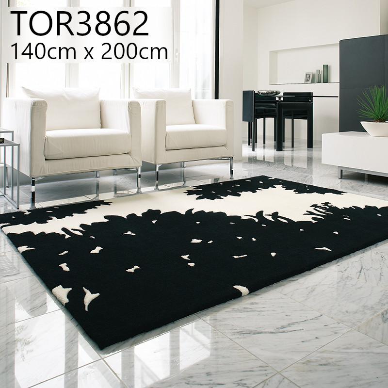 東リ 【TOR3862】 140cmx200cm ラグ 防ダニ ホットカーペットOK 抗菌防臭 マット