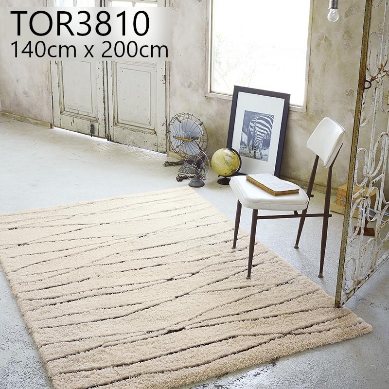 東リ 【TOR3810】 140cmx200cm ラグ 防ダニ ホットカーペットOK マット