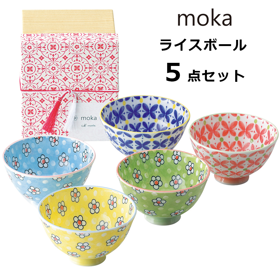 It is product made in ◎ bowl *5 point set flower North European cute  fashion Japan tableware lapping possibility m-mode in / gift present