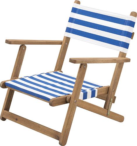 Lifestyle Collection フォールディングチェア アカシア 天然木 ストライプ柄 アウトドア キャンプ ガーデン テラス ベランダ インテリア W57×D52.5×H61.5×SH24cm ソファラボ 椅子 イス 折りたたみ 持ち運び