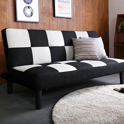 お部屋に置くだけでシックでオシャレに空間に 2.5人掛けソファベッド