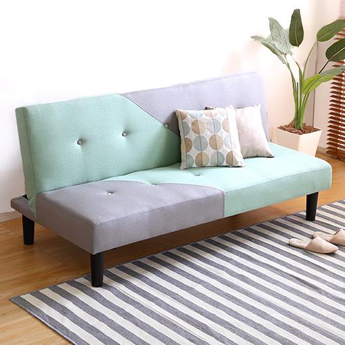 バイカラーでお部屋のインテリアを楽しめる 2.5人掛けデザインソファベッド
