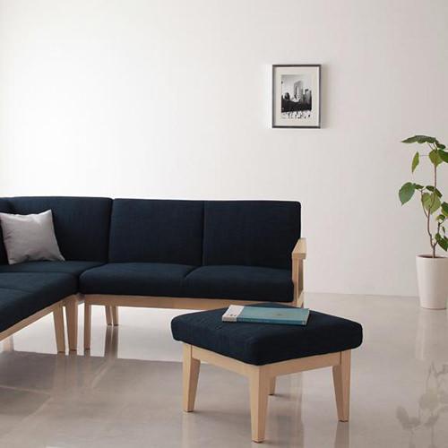 木の優しさを感じるシンプルなデザイン 人気上昇中 だんらん木肘ソファ 売り込み オットマン