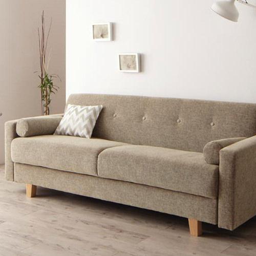広々サイズが嬉しい シンプルモダンデザインソファベッド