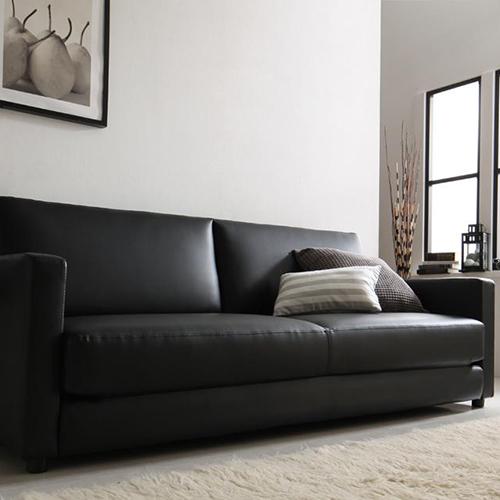 高級な存在感 ふたり寝られるモダンデザインソファベッド 2.5人掛け