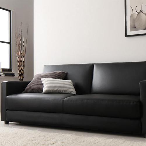 高級な存在感 ふたり寝られるモダンデザインソファベッド 3人掛け