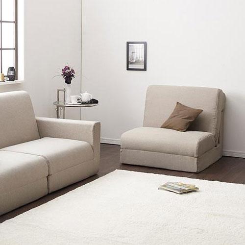 スタイリッシュなデザインと機能性を兼ね備えた デザインソファベッド 幅80cm