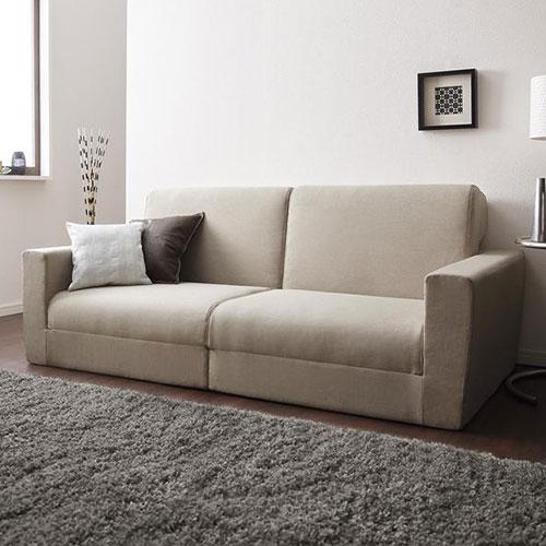 スタイリッシュなデザインと機能性を兼ね備えた デザインソファベッド 幅190cm