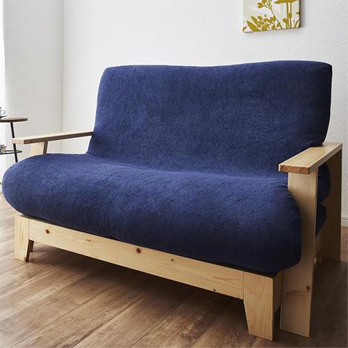 スタイル自由自在で自分好みに作ることができる 伸縮型天然木すのこソファベッド