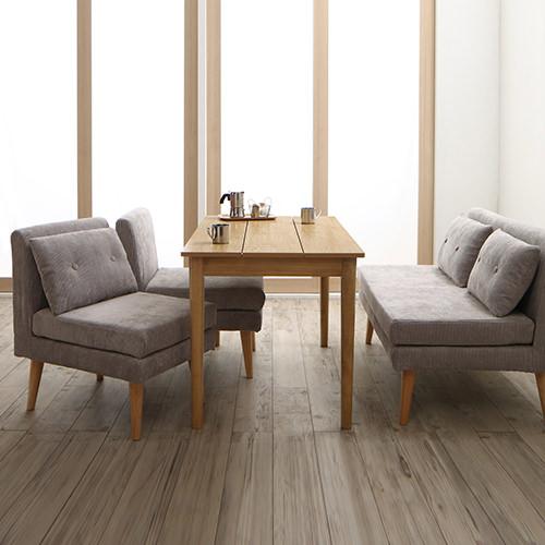 優しい雰囲気に包まれて 北欧デザインソファ リビングダイニング 4点テーブルセット