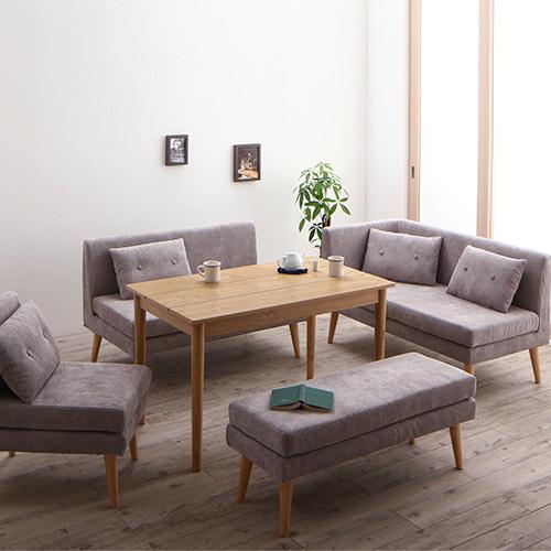 優しい雰囲気に包まれて 北欧デザインソファ リビングダイニング 5点セット