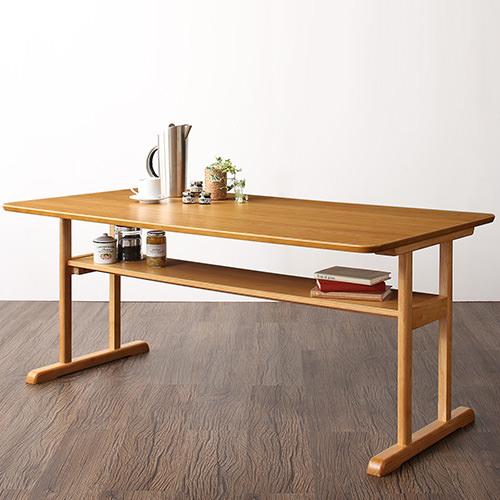 ストライプ生地が心地よい 棚付きソファダイニング ダイニングテーブル