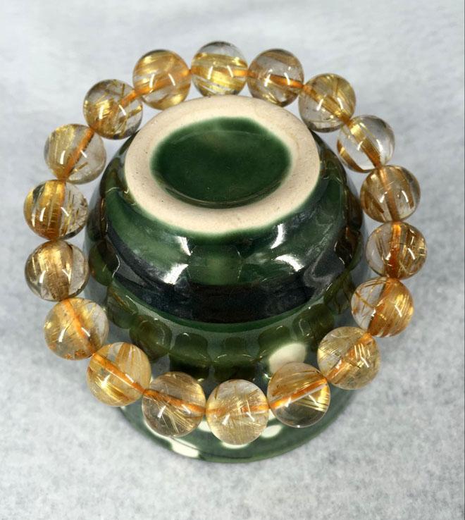 ルチル 金針水晶●玉径約10mmブレスレット●一連●ブラジル産●天然石●パワーストーン●・10P03Dec16