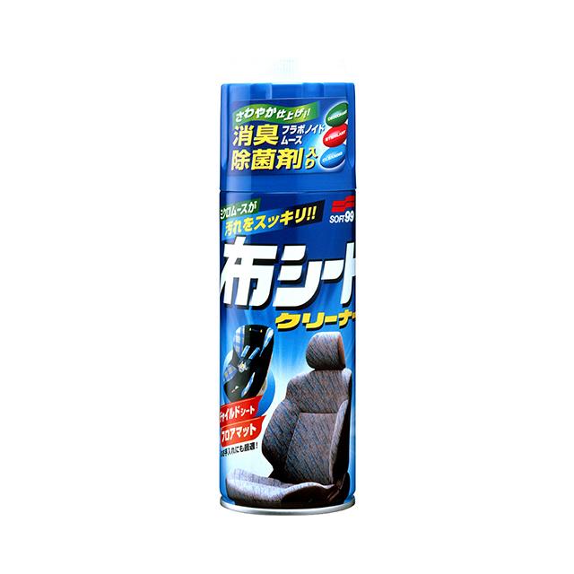 市販 授与 布シートの悪臭 汚れもスッキリ解消 素材に優しい専用ブラシ付 9 10はポイント9倍 ソフト99 420ml 強力な消臭 soft99 クリーナー効果 除菌効果を発揮 ニュー布シートクリーナー