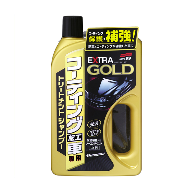 Soft 99 coatings and construction vehicle extra gold shampoo 750 ml SOFT99