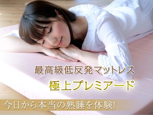 純日本製100%最高級スペック!低反発マットレス プレミアード/シングル