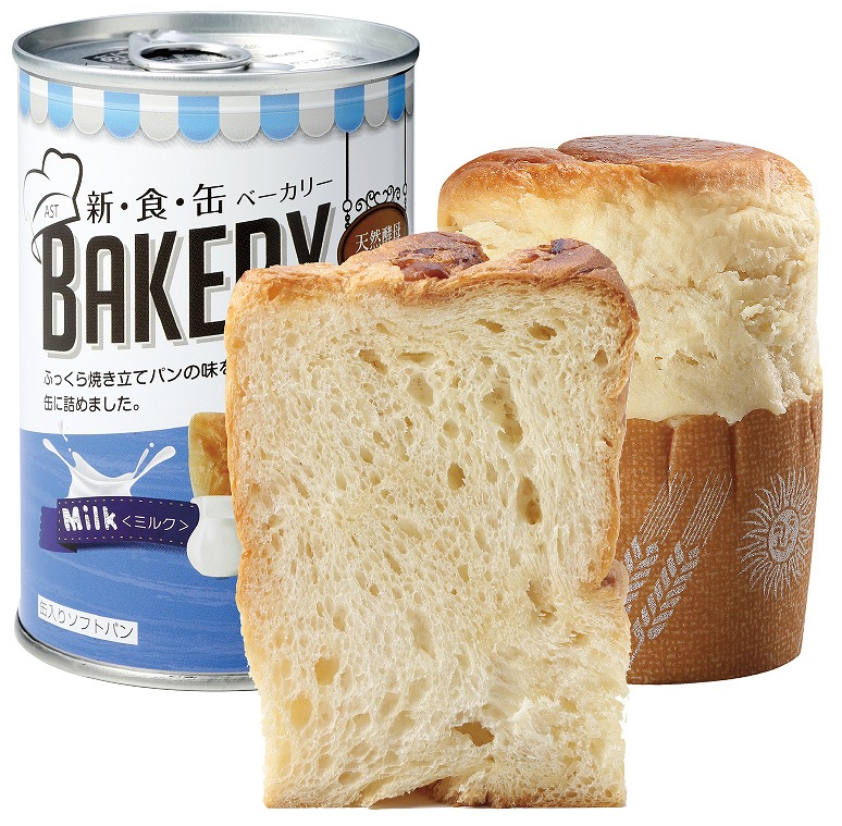 新食缶ベーカリー 缶入ソフトパン ミルク 100g 24缶/箱 3年保存 保存食 防災食 非常食