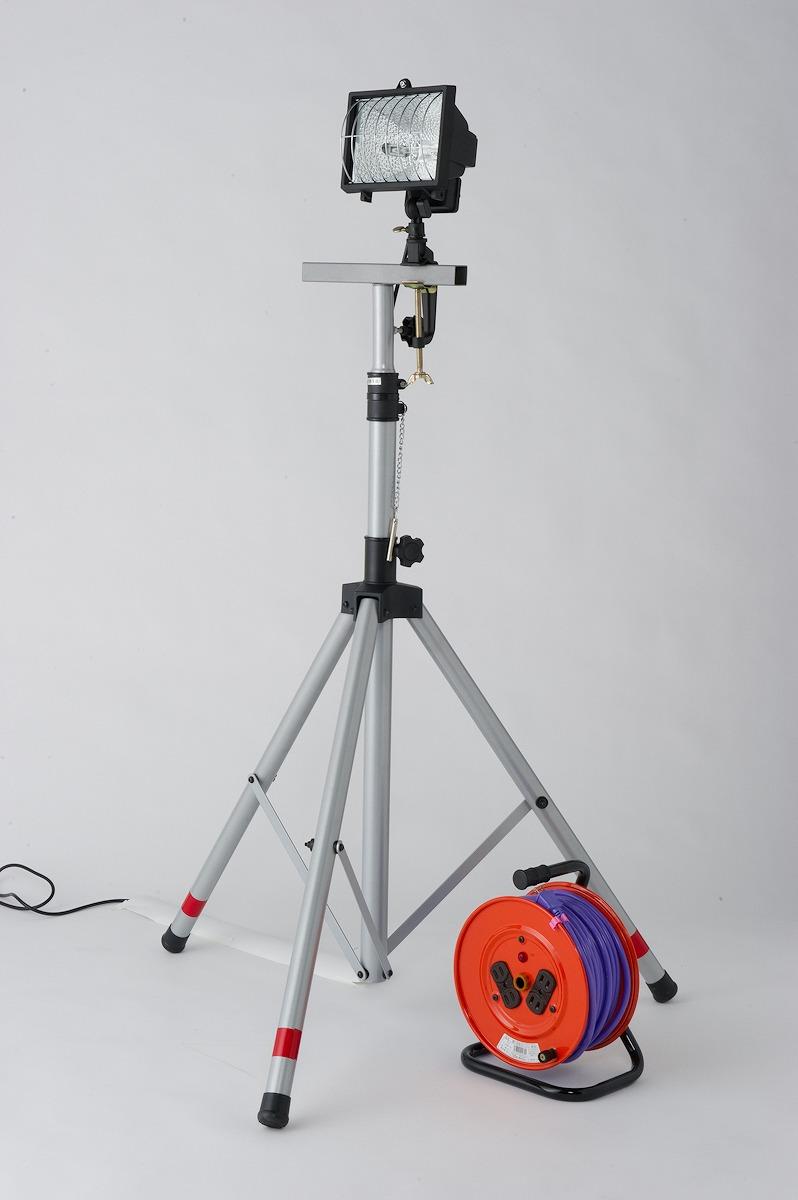 防災セット ハロゲン投光器SET 屋内用 キタムラ産業