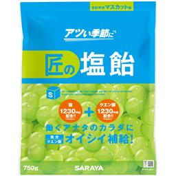 【まとめ買い】 匠の塩飴 マスカット味 750g 10袋/箱【送料無料】【代引不可】熱中症対策