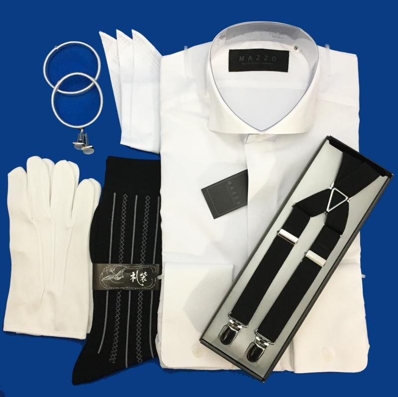 5d7a959eb77af 便利な小物6点Aセット&ちょっとグレードアップシャツ S~6Lウィングカラーシャツ/ダブルカフス/グレードアップ/便利な小物6点<Aセット>3営業日以内発送/  ...