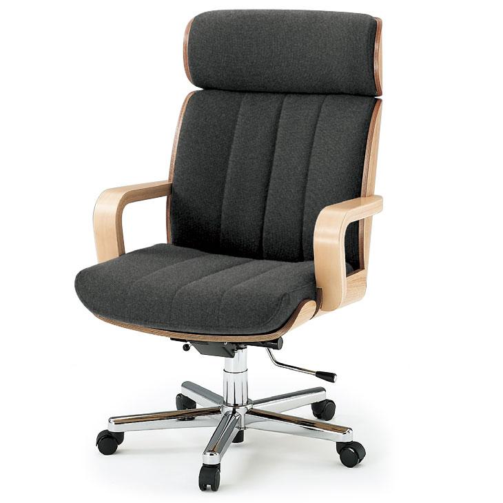 【オフィスチェア】 イトーキ R-1(ハイバック/背裏突板貼りタイプ)布地張り