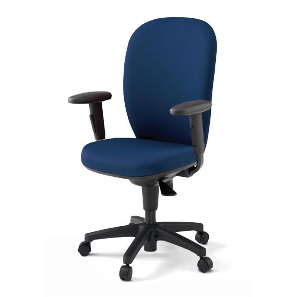 オフィスチェア/ イトーキ リエット ハイバック 再生布地/可動肘付/樹脂脚