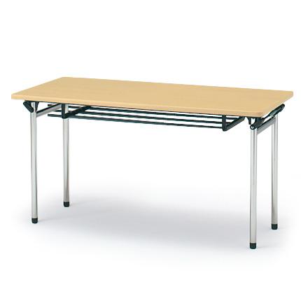 イトーキ 折りたたみテーブルTTF(棚付)150×60【自社便/開梱・設置付】