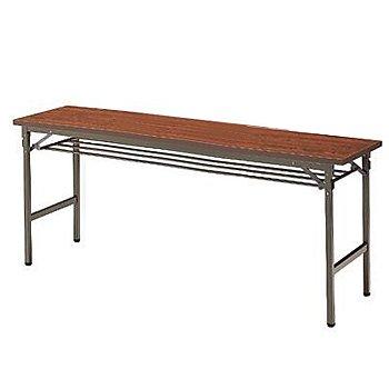 イトーキ 折りたたみテーブルTBE(棚付)180×45【自社便/開梱・設置付】