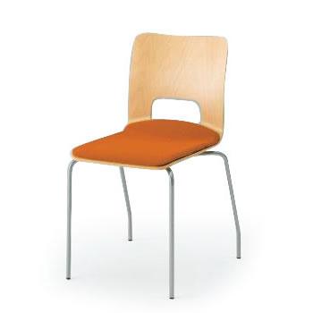 椅子/スタッキングイトーキ チェア/orno(オルノ)120GB/座面:布地張り(スクエアタイプ)