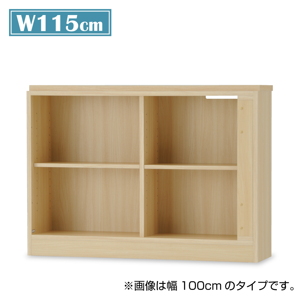 棚 下段シェルフ 幅115cm 木製 日本製 バルバーニ Valvanne ワークスタジオ J DD-B115