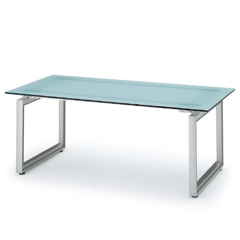 イトーキ/INFUSE(インフューズ)ミーティングテーブル 独立単体型/□字脚ガラス天板タイプ【自社便/開梱・設置付】