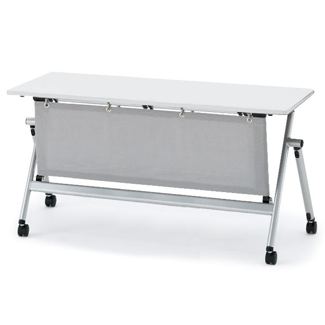 イトーキ 折りたたみテーブル NXシリーズ 天板抗菌加工 アジャスター付(布製幕板付) 幅180cm 奥行60cm 【自社便 開梱・設置付】