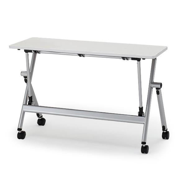 イトーキ 折りたたみテーブル NXシリーズ 天板抗菌加工 アジャスター付(幕板なし) 幅120cm 奥行45cm 【自社便 開梱・設置付】