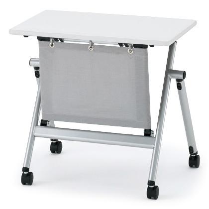 イトーキ 折りたたみテーブル NXシリーズ 天板抗菌加工 アジャスターなし(布製幕板付) 幅75cm 奥行50cm 【自社便 開梱・設置付】