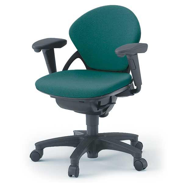 オフィスチェア イトーキ プレーゴチェア ローバック(GA/布張地)/可動肘付/樹脂脚