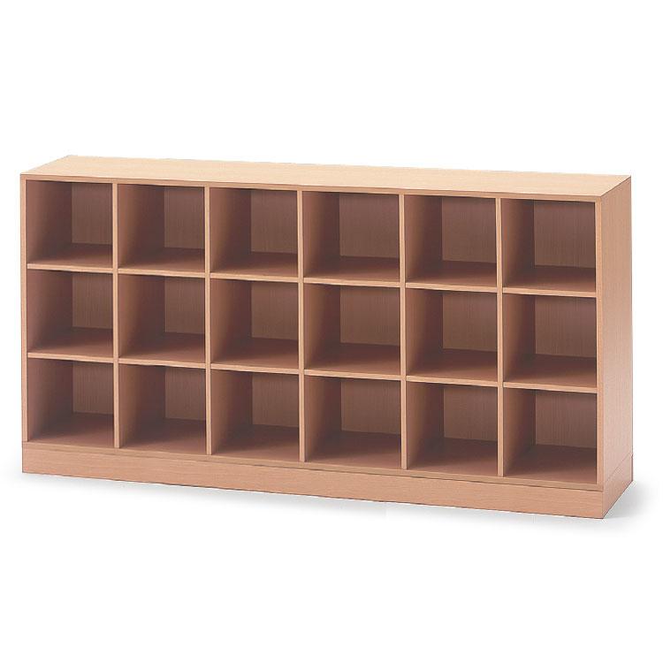 イトーキ 学校用木製収納/18ボックス 巾木タイプ【自社便/開梱・設置付】