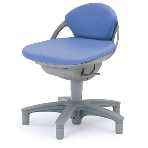 病院・クリニック向け イトーキ プレーゴチェア スーパーローバック(本体:W4/DL[ビニールレザー]張地)/肘なし/樹脂脚