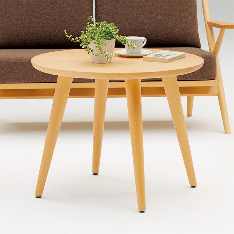 イトーキ ピレム 木製 円形テーブル 直径70cm 【自社便/開梱・設置付】