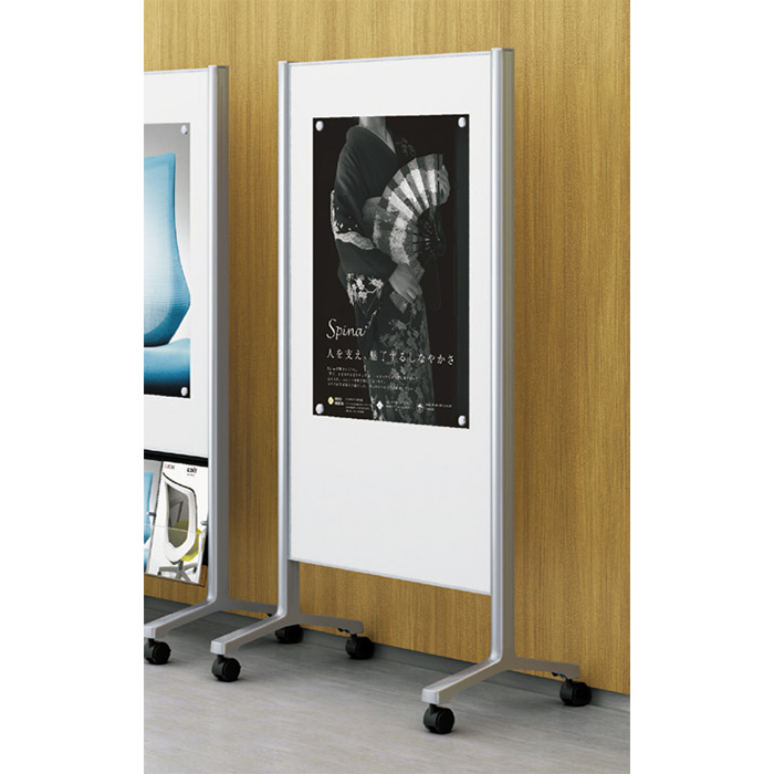 ポスターやチラシの掲示に。キャスター付/  イトーキ 掲示板(片面ピンナップ/片面ホワイトボード)ALシリーズ 【自社便/開梱・設置付】