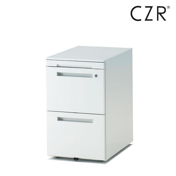 イトーキ CZRシリーズ/ワゴン/A4・2段 ペントレイ付 D59.3/キャスターロック付【自社便/開梱・設置付】