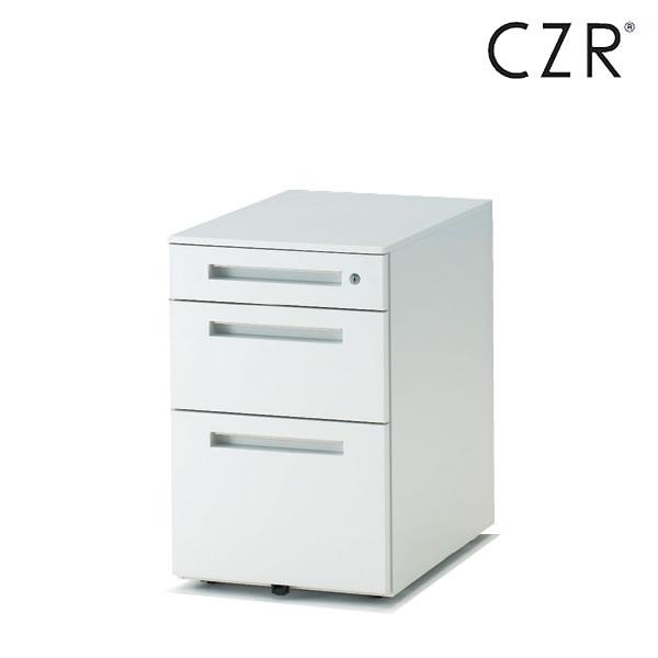 イトーキ CZRシリーズ/ワゴン/標準3段 D67.9(ロングレールタイプ)/キャスターロック付【自社便/開梱・設置付】