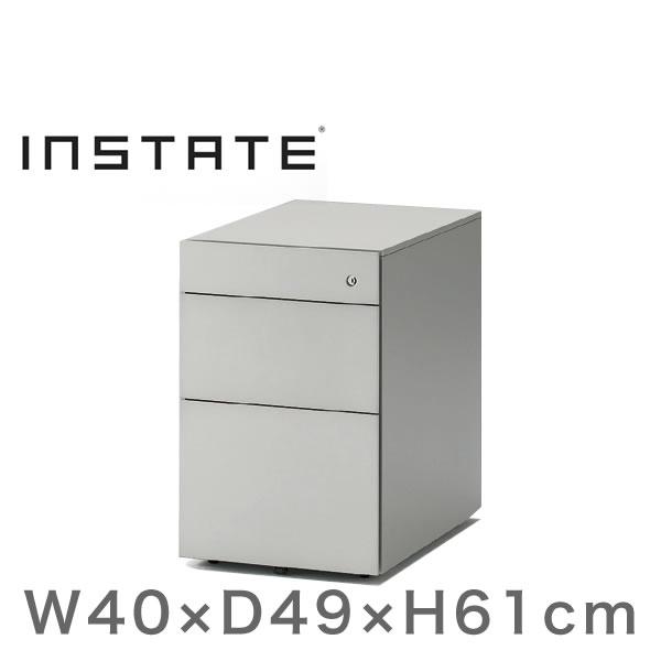 インステート/ワゴン 3段(スチール塗装) D49(ショート)/キャスターロック付【自社便/開梱・設置付】