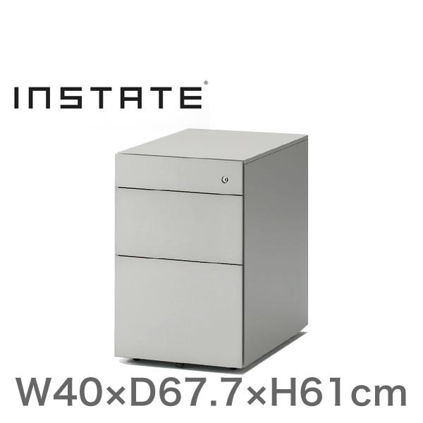 インステート/ワゴン 3段(スチール塗装) D67.7(ロング)/キャスターロック付【自社便/開梱・設置付】