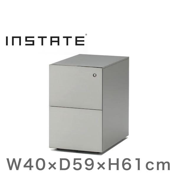 インステート/ワゴン 2段(スチール塗装) D59/キャスターロック付【自社便/開梱・設置付】
